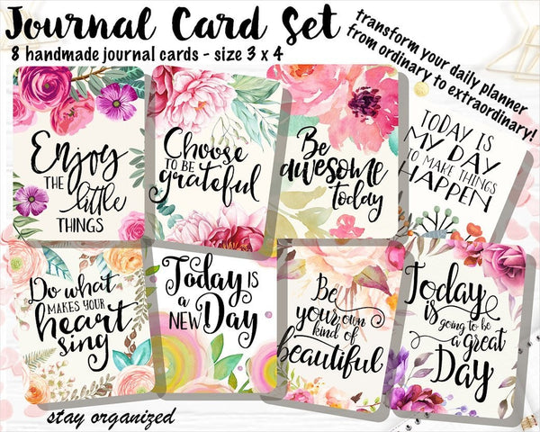 Journal Cards JC011 EmelysPlannerShop