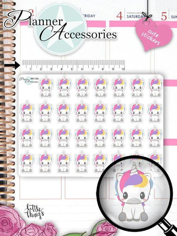 Kawaii Unicorn Stickers NR1384 EmelysPlannerShop