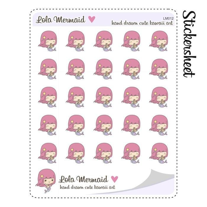 L012 | pizza planner stickers TwinkleTheUnicorn