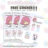 L032 | kawaii doctor planner stickers TwinkleTheUnicorn
