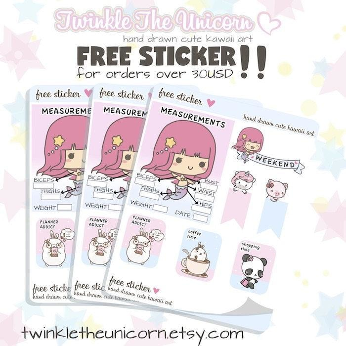 L039 | etsy planner stickers TwinkleTheUnicorn