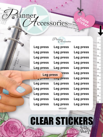 Leg Press Stickers - EmelysPlannerShop