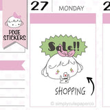 P017 | sale shopping stickers TwinkleTheUnicorn