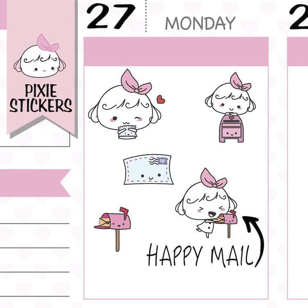 P030 | happy mail planner stickers TwinkleTheUnicorn