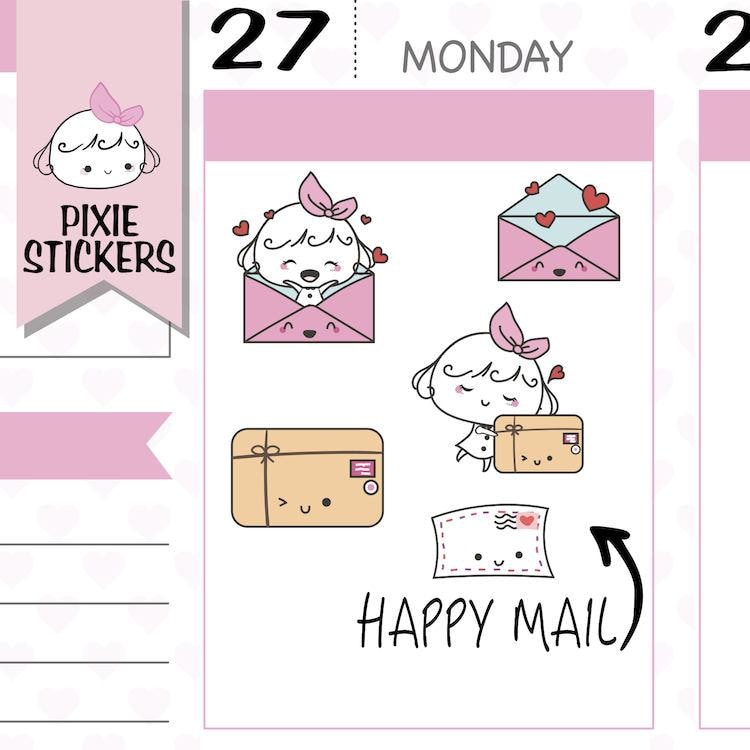 P031 | happy mail planner stickers TwinkleTheUnicorn