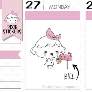 P045| pay bills stickers TwinkleTheUnicorn
