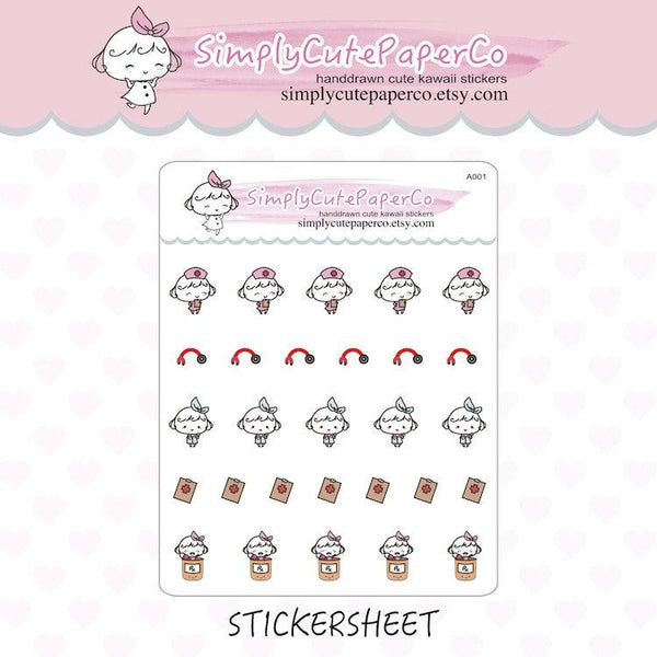 P053 | doctor planner stickers TwinkleTheUnicorn