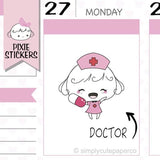 P061 | doctor planner stickers TwinkleTheUnicorn