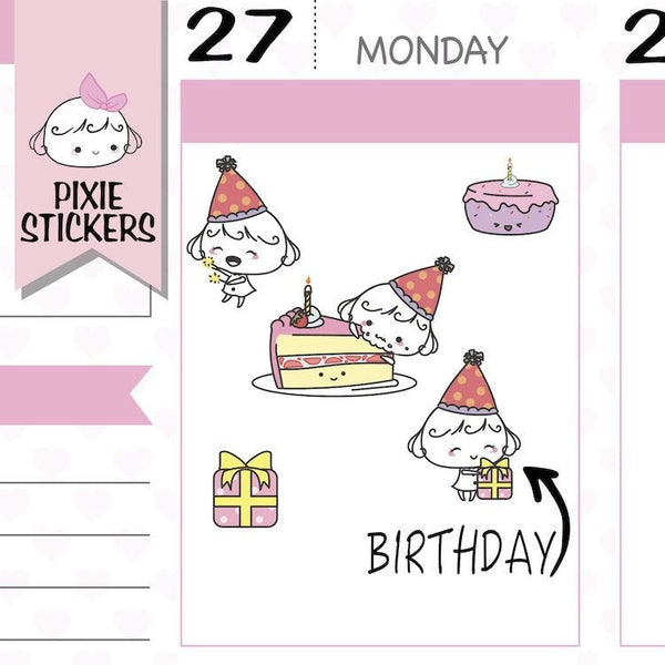 P079 | birthday stickers TwinkleTheUnicorn