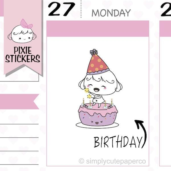 P081| birthday stickers TwinkleTheUnicorn