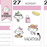 P104 | vacation stickers TwinkleTheUnicorn