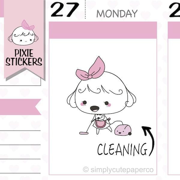 P126 | cleaning planner stickers TwinkleTheUnicorn