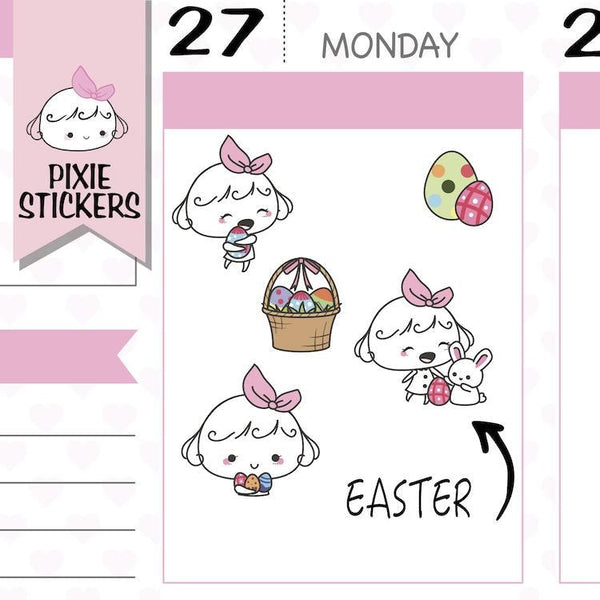 P138 | happy easter stickers TwinkleTheUnicorn