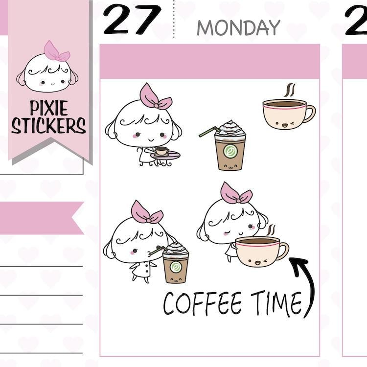 P142| coffee stickers TwinkleTheUnicorn