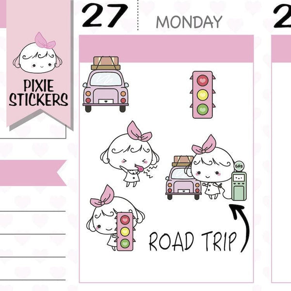 P150 | road trip planner stickers TwinkleTheUnicorn