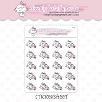 P154 | road trip planner stickers TwinkleTheUnicorn