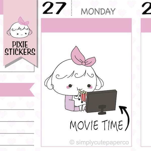 P189 | movie night stickers TwinkleTheUnicorn