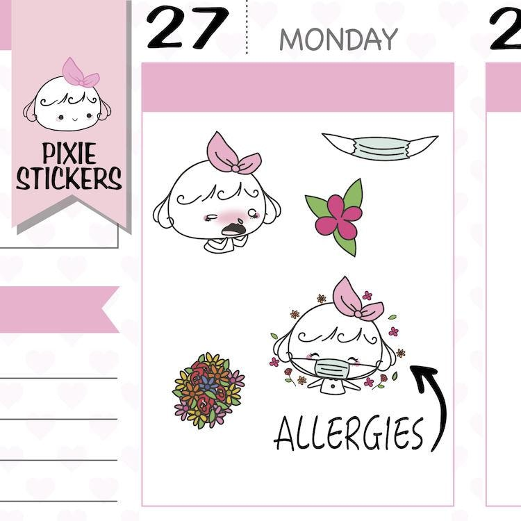 P197 | allergies stickers TwinkleTheUnicorn