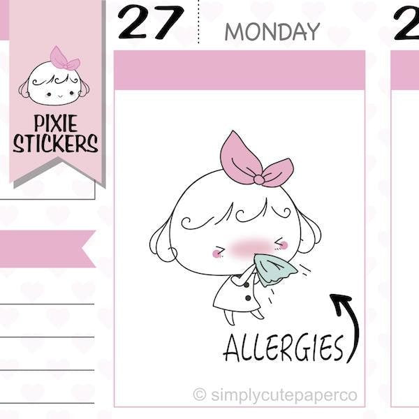 P199 | allergies stickers TwinkleTheUnicorn