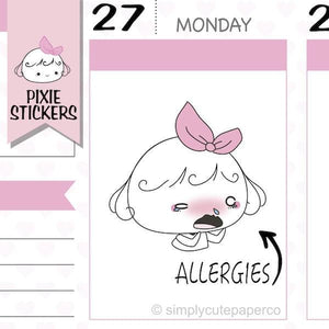 P202 | allergies stickers TwinkleTheUnicorn