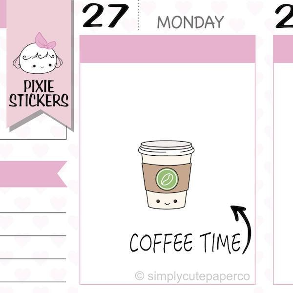 P219 | coffee planner stickers TwinkleTheUnicorn