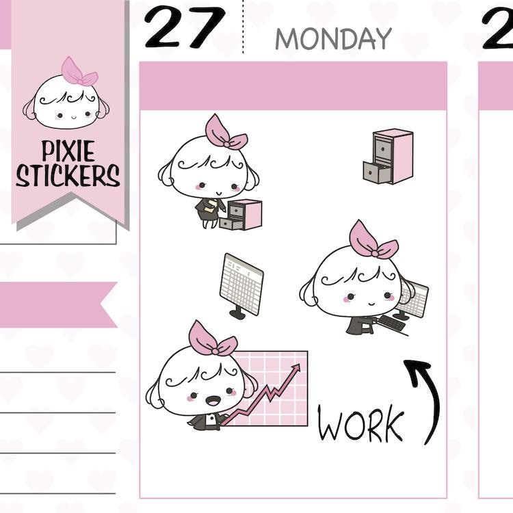 P247 | working stickers TwinkleTheUnicorn
