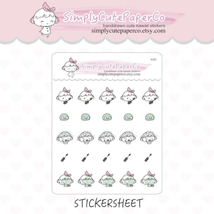 P306 | beauty planner stickers TwinkleTheUnicorn