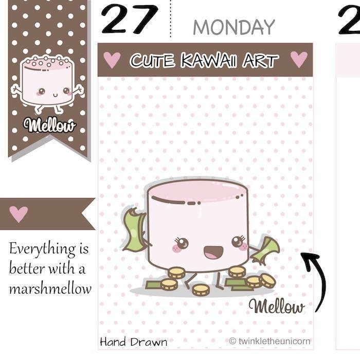 payday planner stickers M027 TwinkleTheUnicorn