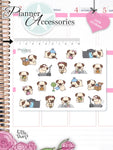 Kawaii Pug Planner Stickers 2335