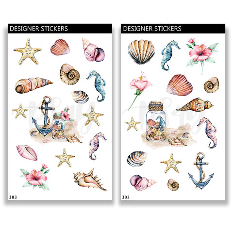 Beach Sea Live Sticker Set 303