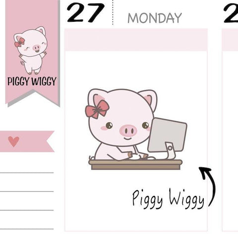 PW002 | piggy stickers TwinkleTheUnicorn