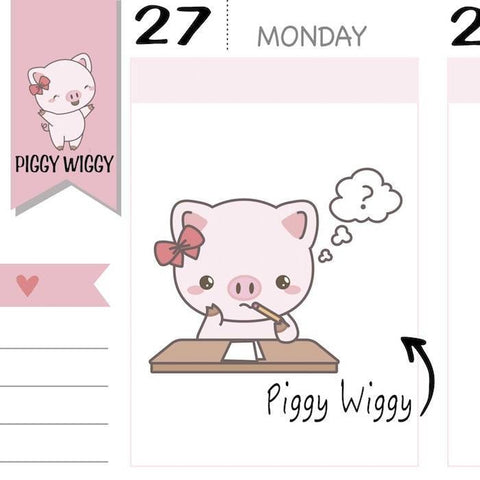 PW009 | school planner stickers TwinkleTheUnicorn