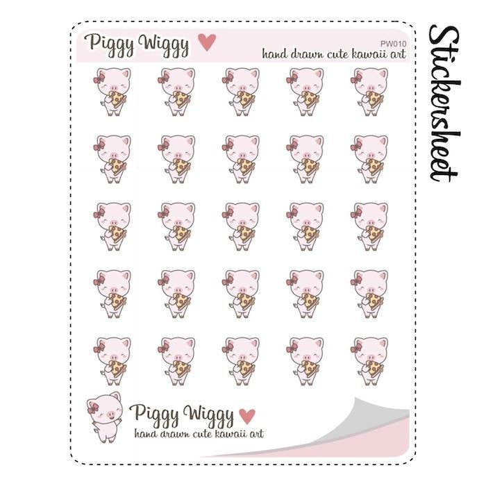 PW010 | pizza planner stickers TwinkleTheUnicorn