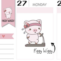 PW011 | workout planner stickers TwinkleTheUnicorn