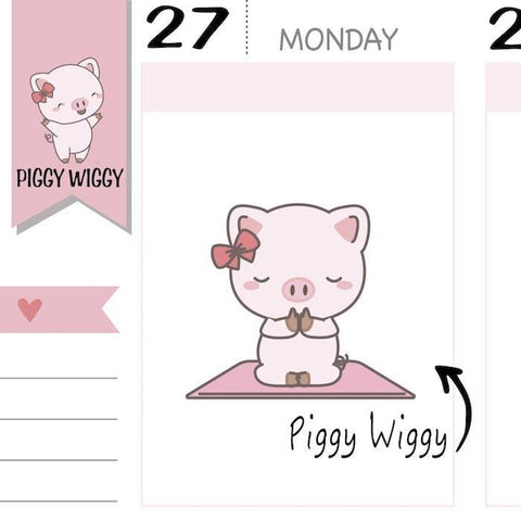 PW030 | yoga planner stickers TwinkleTheUnicorn