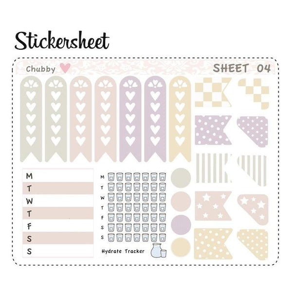Set of 6 ECLP Vertical Planner Sticker Kit CB006 TwinkleTheUnicorn