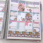 Set of 6 ECLP Vertical Planner Sticker Kit CB052 TwinkleTheUnicorn