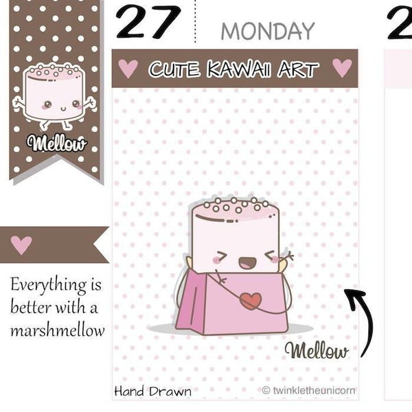 shopping planner stickers M018 TwinkleTheUnicorn