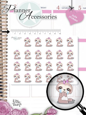 Sloth Sad Organizer Stickers 2290 EmelysPlannerShop