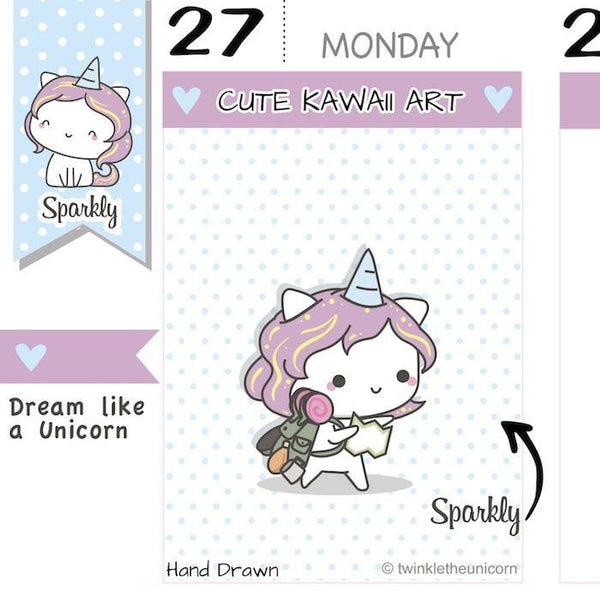 SP003 | Road Trip Planner Stickers TwinkleTheUnicorn