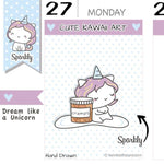 SP008 | Period Planner Stickers TwinkleTheUnicorn