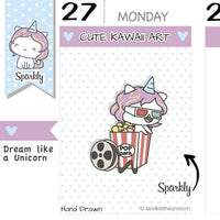 SP014 | Movie Time Planner Stickers TwinkleTheUnicorn
