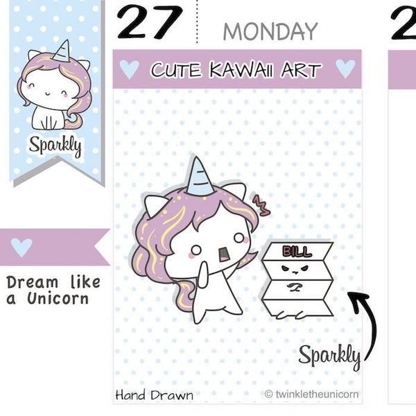 SP016 payday stickers TwinkleTheUnicorn