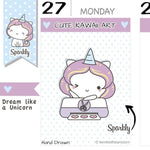 SP018 | Cutting Machine Planner Stickers TwinkleTheUnicorn