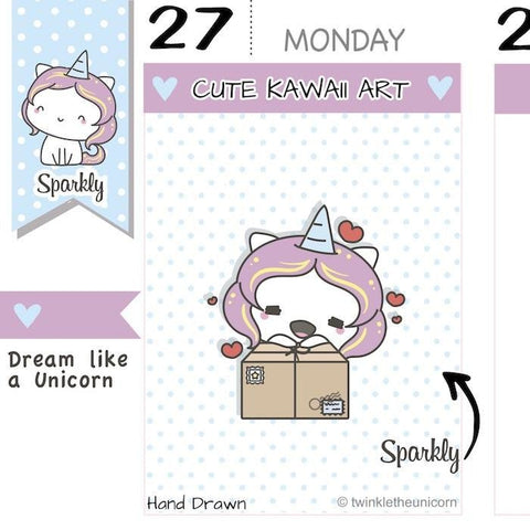 SP022 | Happy Mail Planner Stickers TwinkleTheUnicorn