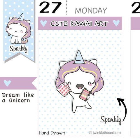 SP029 | Plannergirl Stickers TwinkleTheUnicorn