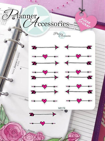 Sticker arrow hearts NR178 EmelysPlannerShop