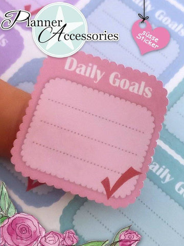 Sticker Sheet Daily Goals NR324 EmelysPlannerShop