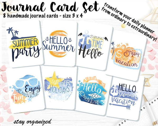 Summer Journal Cards JC026 EmelysPlannerShop