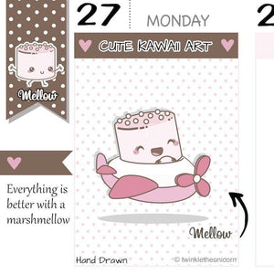 travel planner stickers M023 TwinkleTheUnicorn